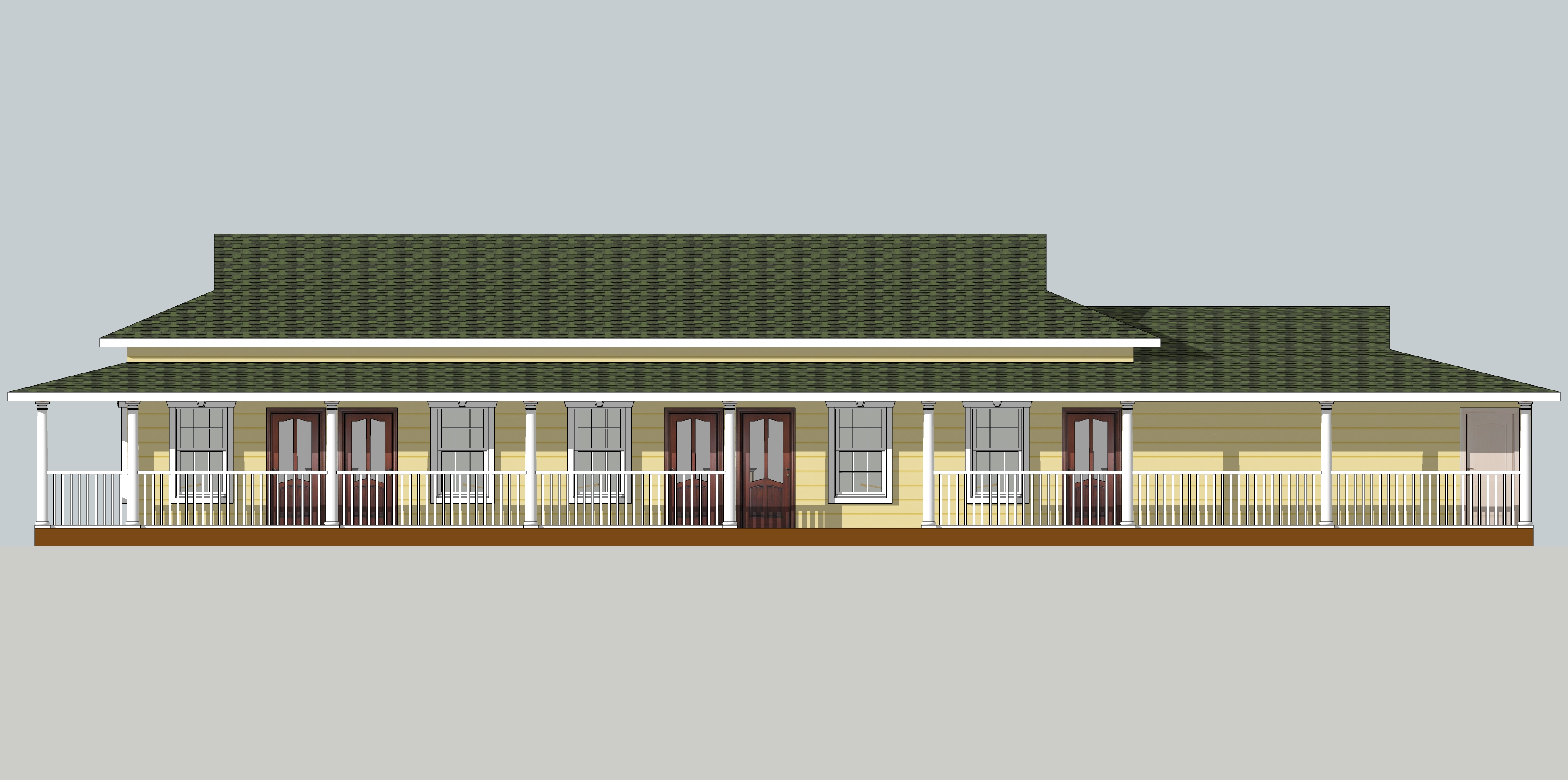Guest house 2 west elevation news from sitagu austin for Guest house plan and elevation